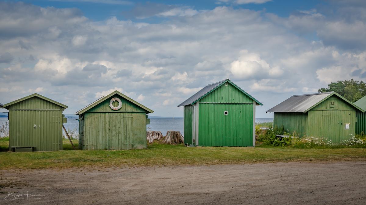 Grüne Häuschen in Schweden