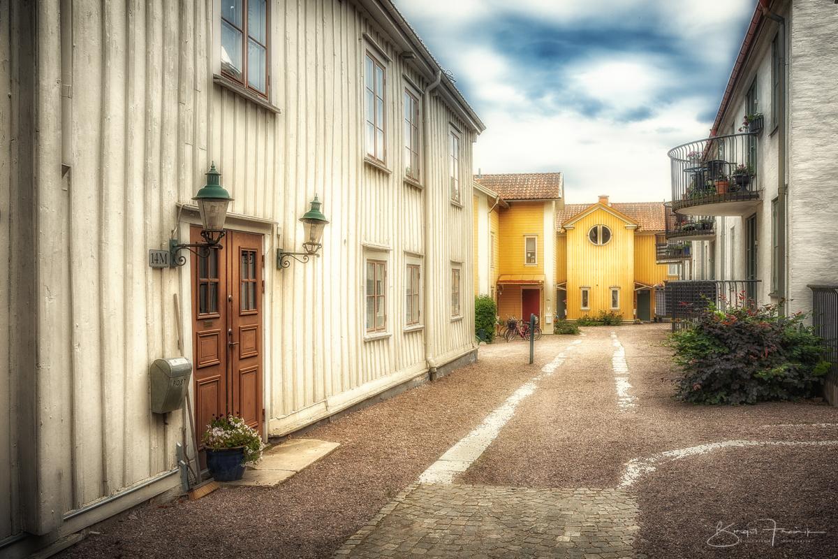 Hinterhof in Hjo, Schweden